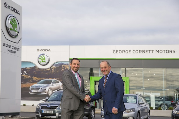 Pictured at George Corbett Motors, Cork Road, Waterford City are Ray Leddy  head of marketing Skoda and George Corbett, dealer principle. Picture: Patrick Browne