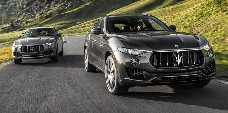 Petrol-engined Maserati Levante Sarrives