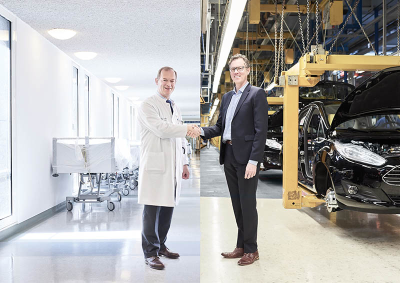 Car manufacturing and cancer treatment are subject of a unique ideas exchange at Ford