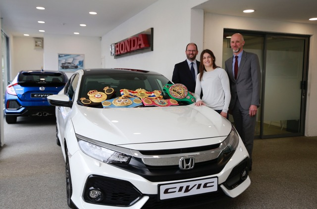 Champion Katie Taylor collects her new Honda Civic