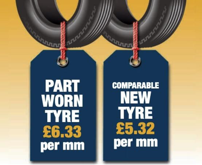 Part worn tyres are a false economy